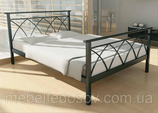 металлическа кровать дарина метакам
