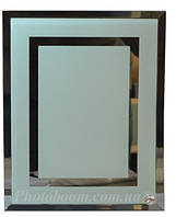 Фоторамка стеклянная прямоугольная двойная зеркальная