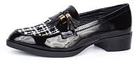 Туфли лоферы женские черные лакированные с кисточками Queen, Черный, 36 , фото 1