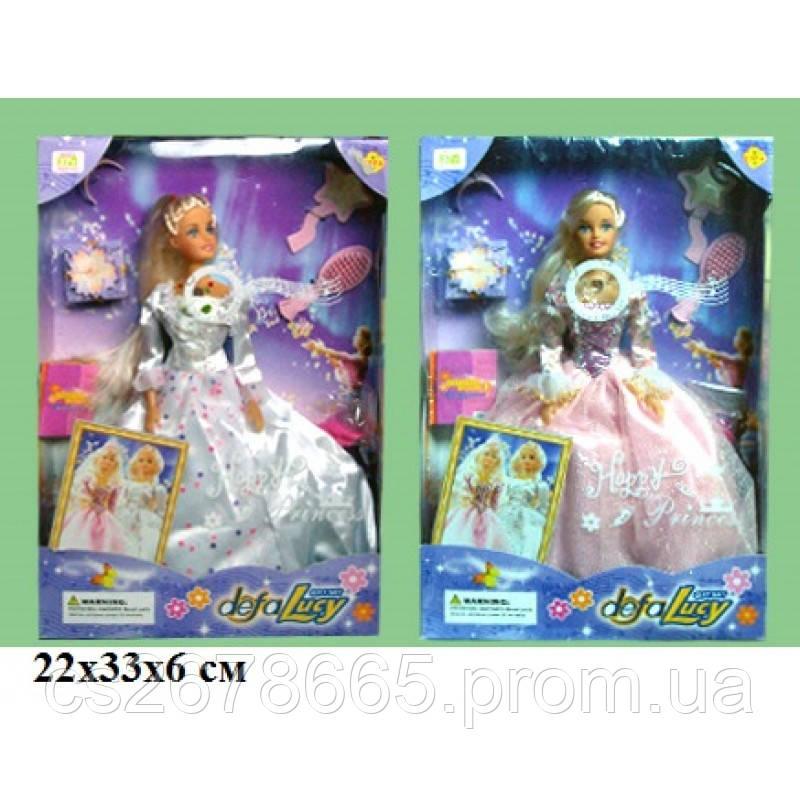 Кукла Defa Lucy 20961 невеста с аксессуарами, музыкальная