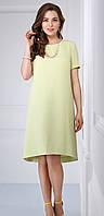 Платье красивое Matini-31064 белорусский трикотаж цвета оливковые тона