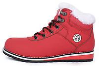 Ботинки женские зимние на цигейке Baas Waterproof red красные, Красный, 38 , фото 1