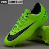 Детские футбольные бутсы Nike Mercurial Vapor XI FG Junior Lime