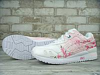Женские кроссовки Asics Gel Lyte III Sakura Custom x Rudnes. Живое фото! Топ качество (асикс сакура)