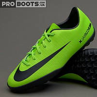 Детские сороконожки Nike Mercurial Vapor XI TF Junior Lime