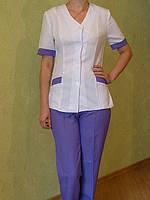 Медицинский костюм, Сирень. Женский медицинский костюм