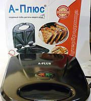 Бутербродница сэндвичница A-Plus 2034, индикатор нагрева, антипригарное покрытие, 800 Вт