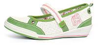 Туфли балетки на девочку с супинатором Walker зеленые Польша, Зеленый, 36