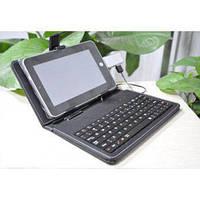 """Обложка-чехол с клавиатурой 9.7"""" @LUX TL-291, microUSB, искусств. кожа, черный, разм.: 208x190 мм"""