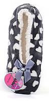 Тапочки женские домашние балетки Любимчики темно-серые в сердцах, Серый, 35-38 , фото 1