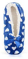 Тапочки женские домашние балетки Любимчики синие в сердцах, Синий, 35-38 , фото 1