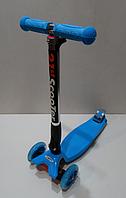 Самокат складной со светящимися колесами 21st scooter Maxi Micro 4108F, голубой ***