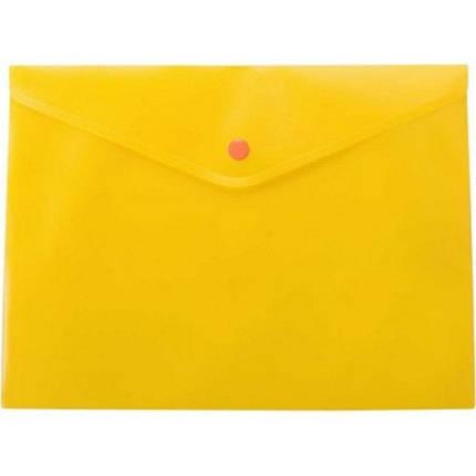"""Папка-конверт """"Buromax"""" А5 матовая желтая №3636-11, фото 2"""