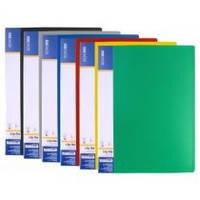 24-47длинный Папка с прижимом/пластик/Clip BL Economix № 31212