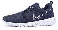 Кроссовки женские Nike Roshe Metric синие текстильные, Синий, 40 , фото 1