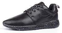 Кроссовки мужские кожаные Nike Roshe Run Oreo черные, Черный, 45 , фото 1