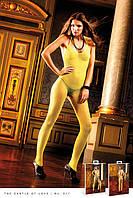 Комбинезон — сетка Yellow Neckholder Bodystocking