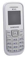 """Мобильный телефон Samsung GT-E1202 Dual SIM White / экран 1.52"""" (128x128) / моноблок / поддержка 2 S"""