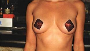 Самоклеющиеся наклейки на соски (пестис) Casino Pasties Diamonds