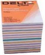 25-144 Блок бумаги для записей MIX 90х90/80мм. не склеен. DELTA № 8015 AXENT