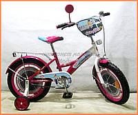 """Двухколесный велосипед TILLY Стюардеса Велосипед TILLY Стюардеса 14 T-214211 crimson + white /1/"""""""