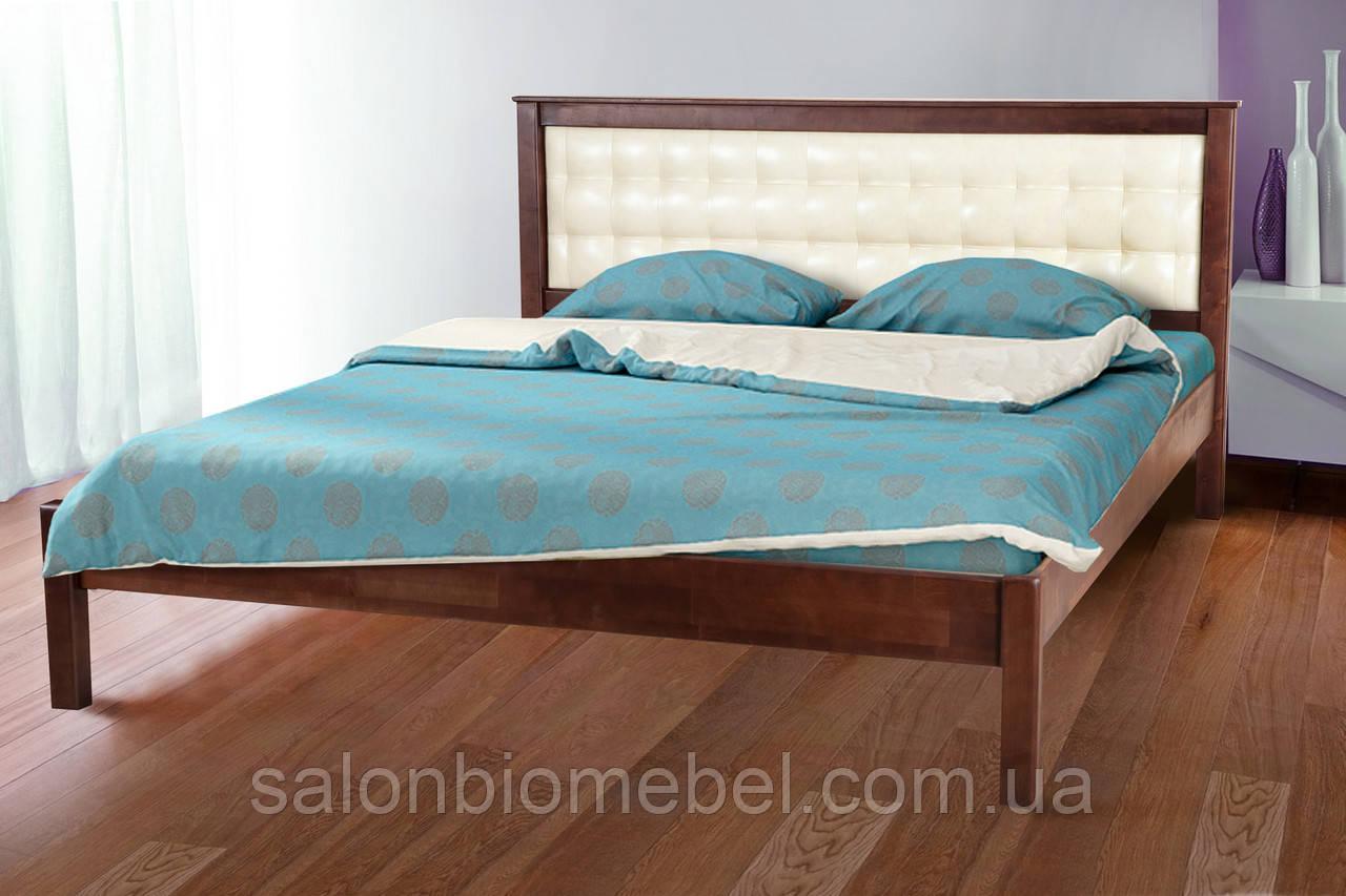 Кровать Карина 1,4м с мягким изголовьем