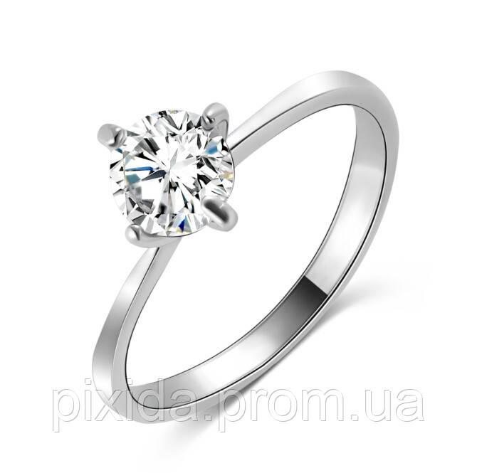 Кольцо одного камня (фианит)