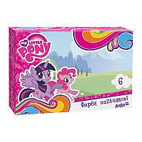 Краски пальчиковые Kite Little Pony LP17-064K, 6 цветов, 35 мл