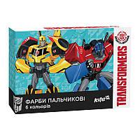 Краски пальчиковые Kite Transformers TF17-064, 6 цветов, 35 мл