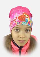 3-D Шапка для Девочки Винкс Цвет Малиновый