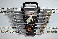 Ключі рожково-накидні з трещіткою Onex ОХ-2065, 8шт
