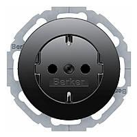 Розетка с з/к, 16А/250В, черная, R.Classic