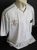 Мужские футболки большого размера с карманом.