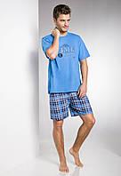 Пижама мужская Nikodem с с коротким рукавом, синий,  L, TM Taro
