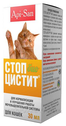 Стоп-Цистит БИО (суспензия) для кошек Api-San. Для лечения мочекаменной болезни