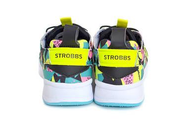 Кроссовки женские Strobbs black/green/yell  АКЦИЯ -50%, фото 2