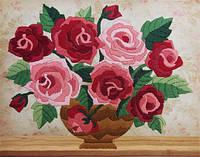 Набор для вышивания нитками Ароматные розы