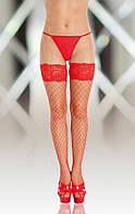 Чулки - Stockings 5520, Plus Size, red, XXXL