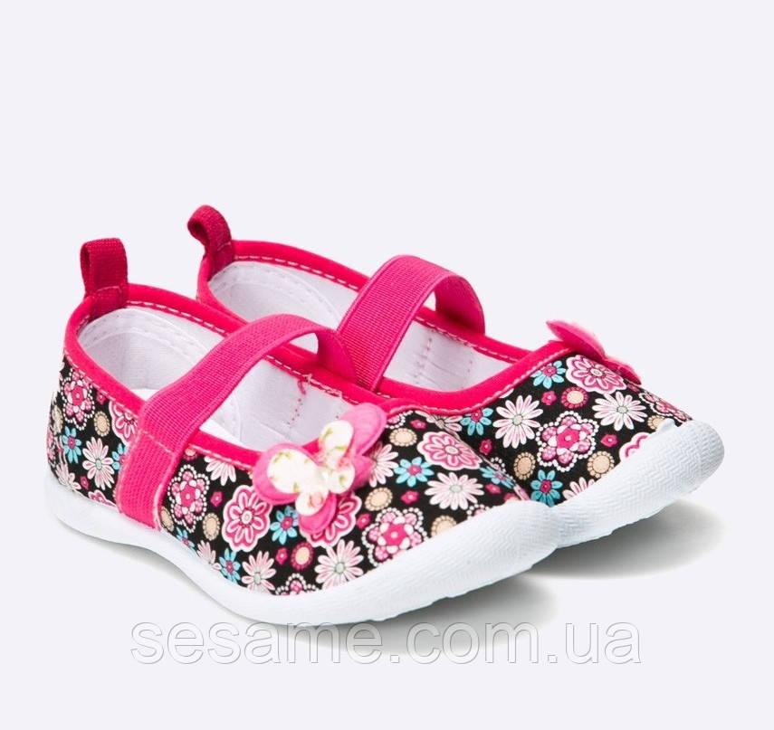 Детские балетки для девочки цветы весенние