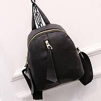 Рюкзак женский кожаный миниатюрный с вертикальным замком