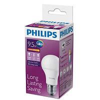 Светодиодная лампа PHILIPS, 9.5W, 3000K, тёплого свечения, цоколь - Е27, 3 года гарантии!!!
