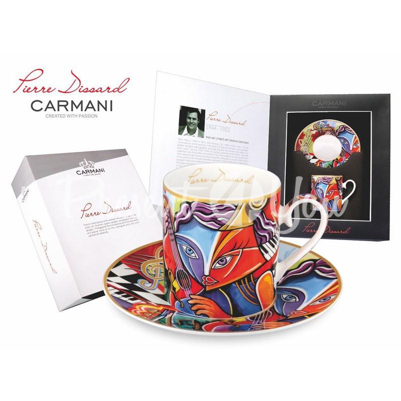 Фарфоровая чашка с блюдцем Пьер Диссарт «Виртуоз» Carmani, 250 мл