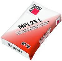 Baumit MPI 25  (белая цементно-известковая штукатурная смесь для внутренних работ 25кг)