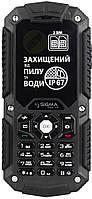 Пылевлагонепроницаемый кнопочный мобильный телефон Sigma mobile X-treame IT67 Dual Sim black