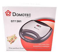 Электрическая бутербродница Domotec DT-1301, 750 Вт, антипригарное покрытие, блокировка ручек, индикатор
