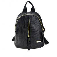 Женский черный рюкзак кожаный, фото 1