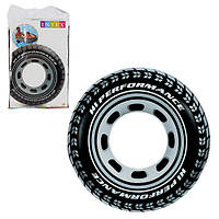 Надувной круг «Шина» 59252 Intex, 91 см
