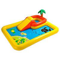 Игровой надувной центр с душем и горкой 57454 Intex, 254х196х79 см