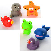 Набор игрушек-пищалок для купания «Животные» P6413