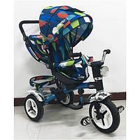 Детский трехколесный велосипед «Голубые капли»M 3199-5HA-D Turbo Trike